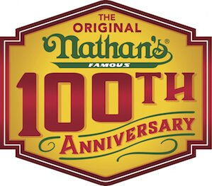 Nathan's Famous 100th Anniversary Logo