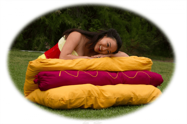 Competitive eater, Mary Bowers dreams of summertime success atop a pillow of hotdog dreams