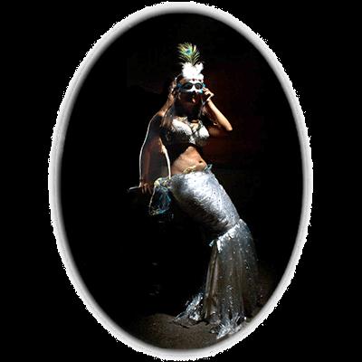 Mary Bowers models marvelous mermaid fashion