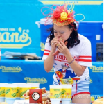 Kate Middleton has the same hat! She wears it for horse races. Mary wears it for dog races, like at the Nathan's Famous Hotdog Eating Contest in 2014.